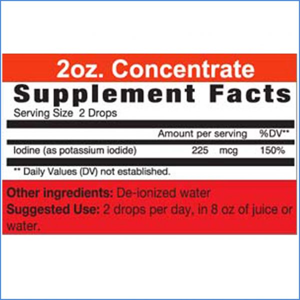 Iodine Concentrate Directions