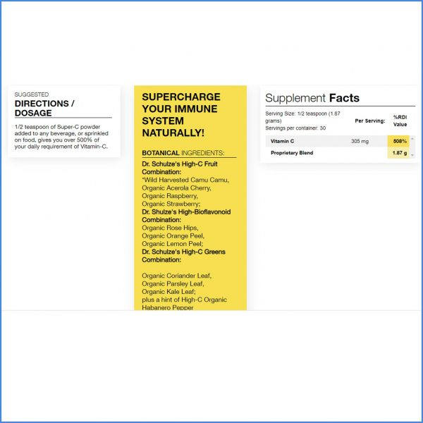 Dr Schulzes Super C Plus Powder Directions
