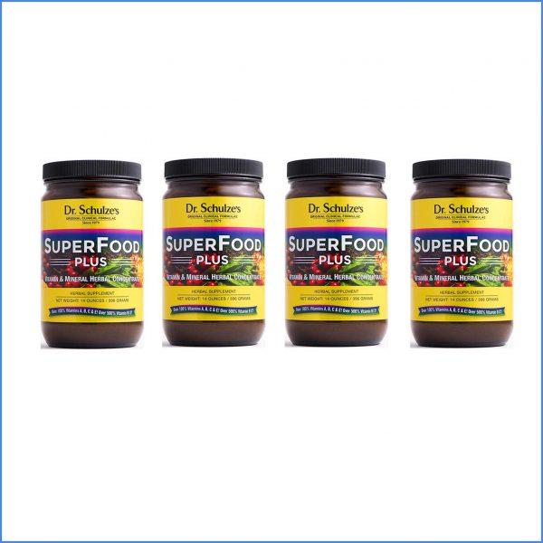 Dr Schulzes Superfood Plus Powder x 4