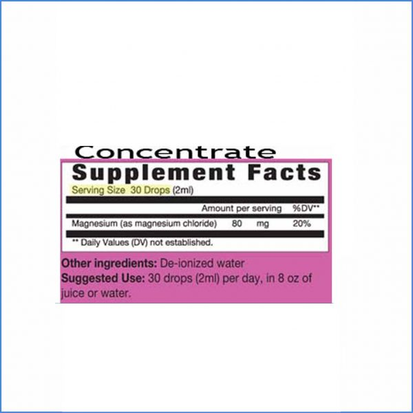 Magnesium concentrate Directions