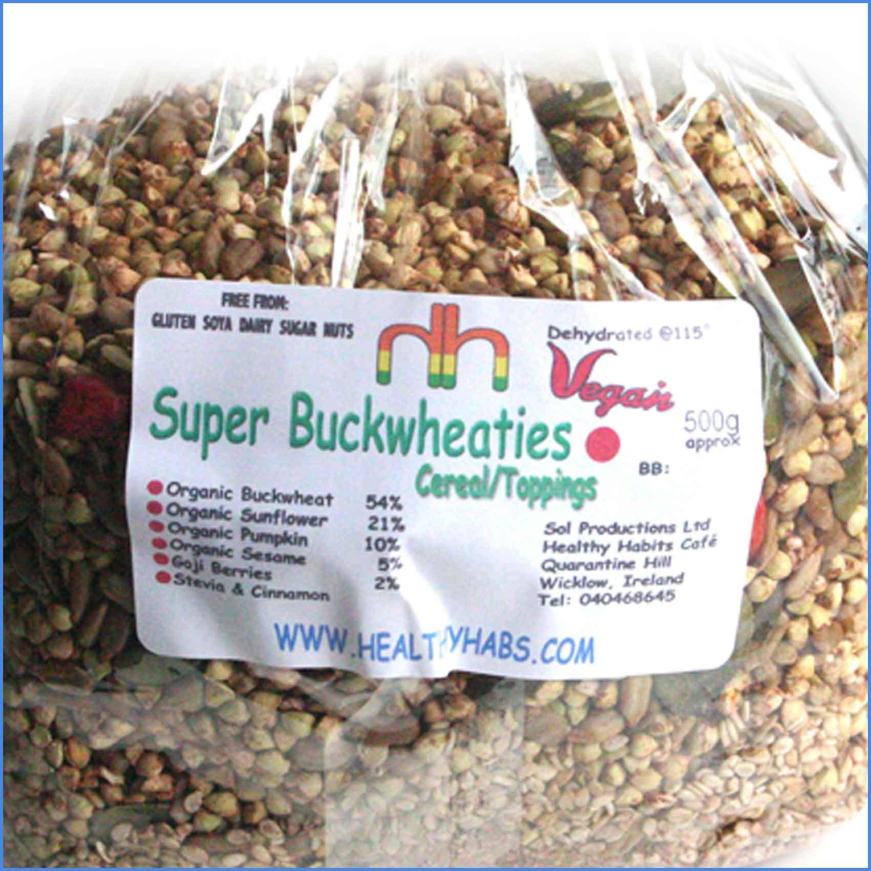 Super Buckwheaties organic RAW