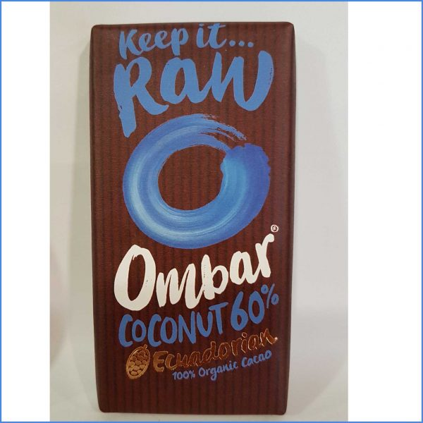OMBAR Coconut 60% RAW organic Chocolate
