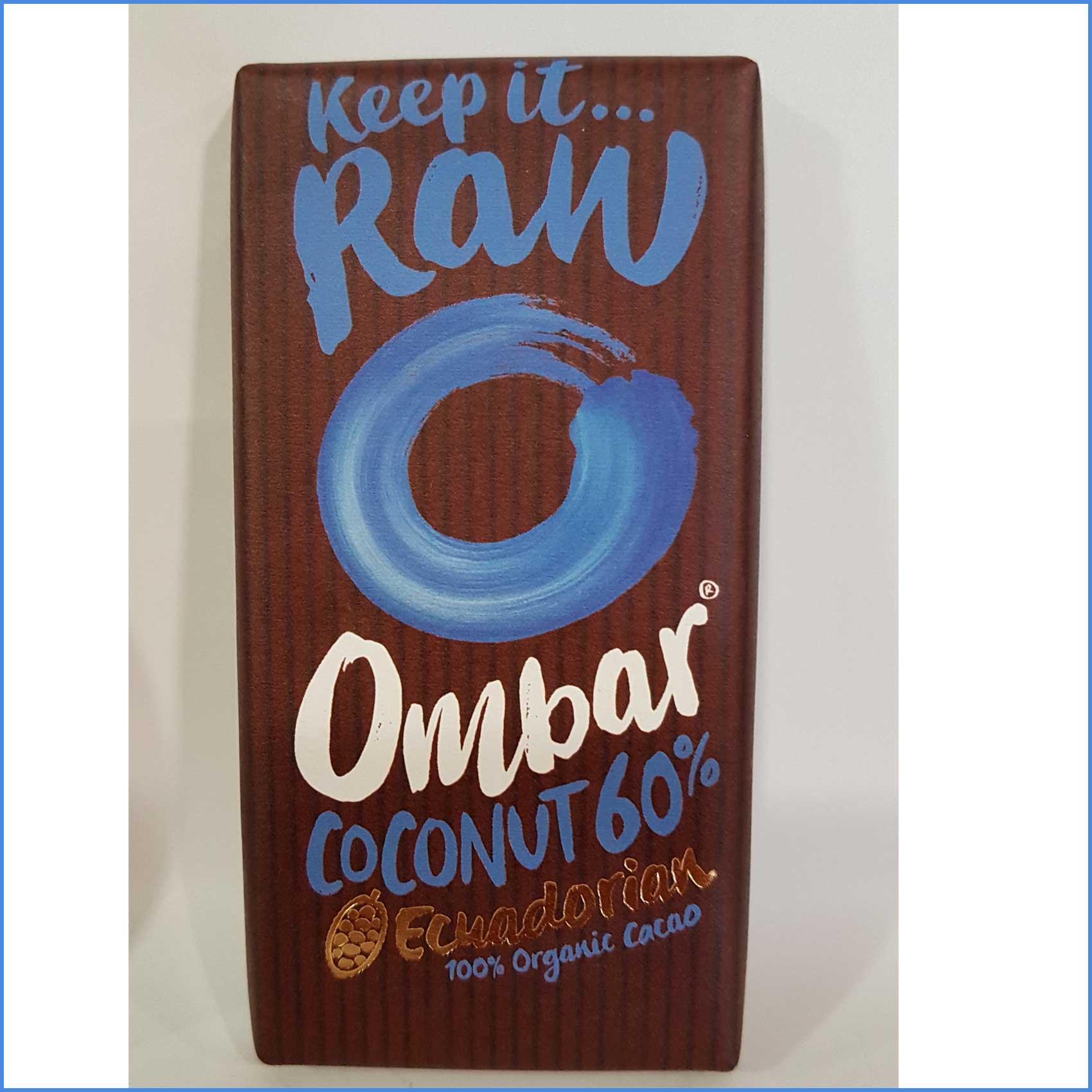 OMBAR Coconut 60% RAW organic Chocolate