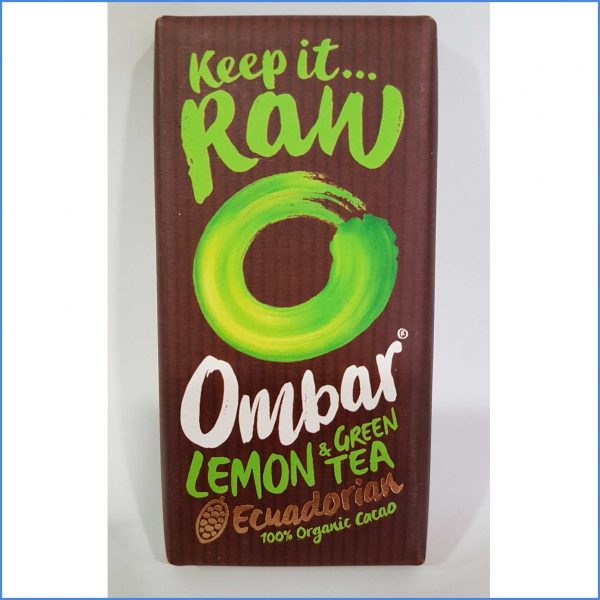 Ombar RAW Chocolate Lemon Green Tea