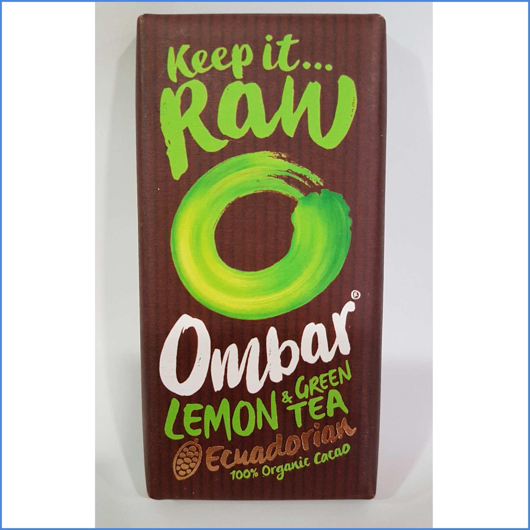 Ombar RAW Chocolate Lemon Green Tea