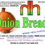 Onion bread RAW label