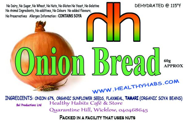 Onion bread RAW label