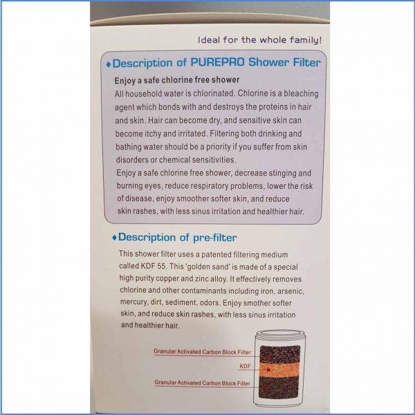 Shower Filter Details