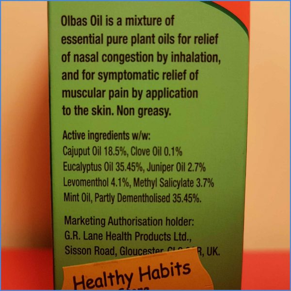 Olbas Oil directions