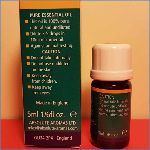 Frankincense Essential Oil, 5ml Directions