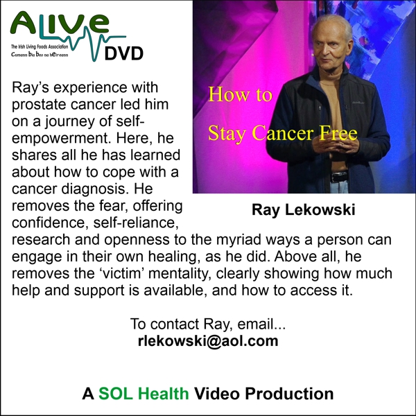 How to Stay Cancer Free with Ray Lekowski - DVD