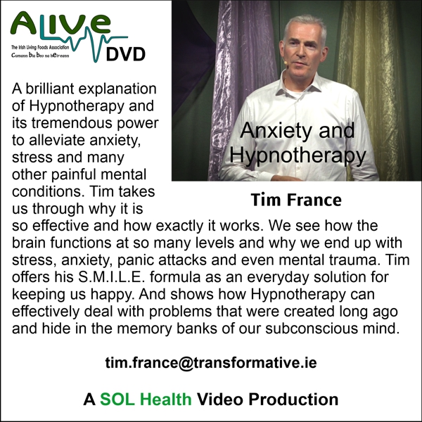 Anxiety and Hypnotherapy with Tim France DVD