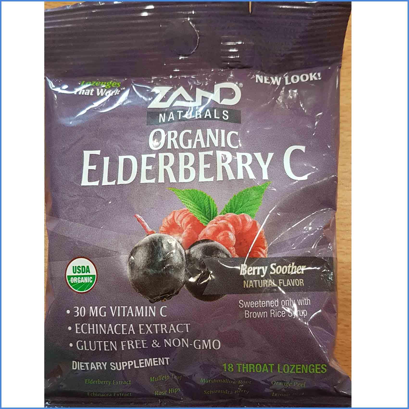 Organic Elderberry C Lozengers