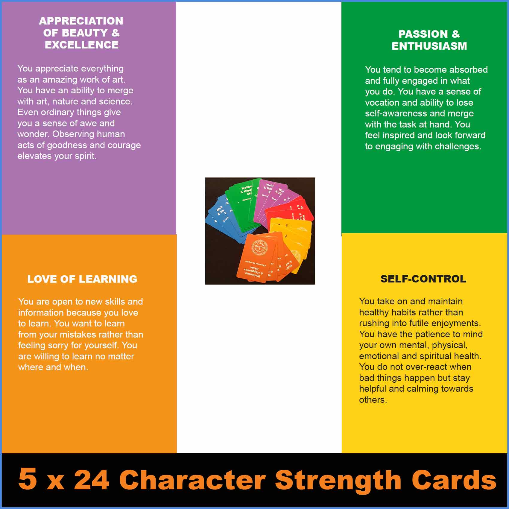 Character strength cards x 5